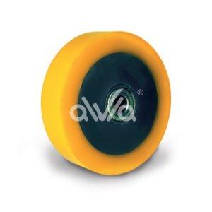 металлическое колесо с полиуретановой ошиновкой
