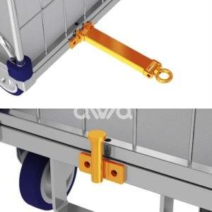 Spojovací mechanismus k vozíku
